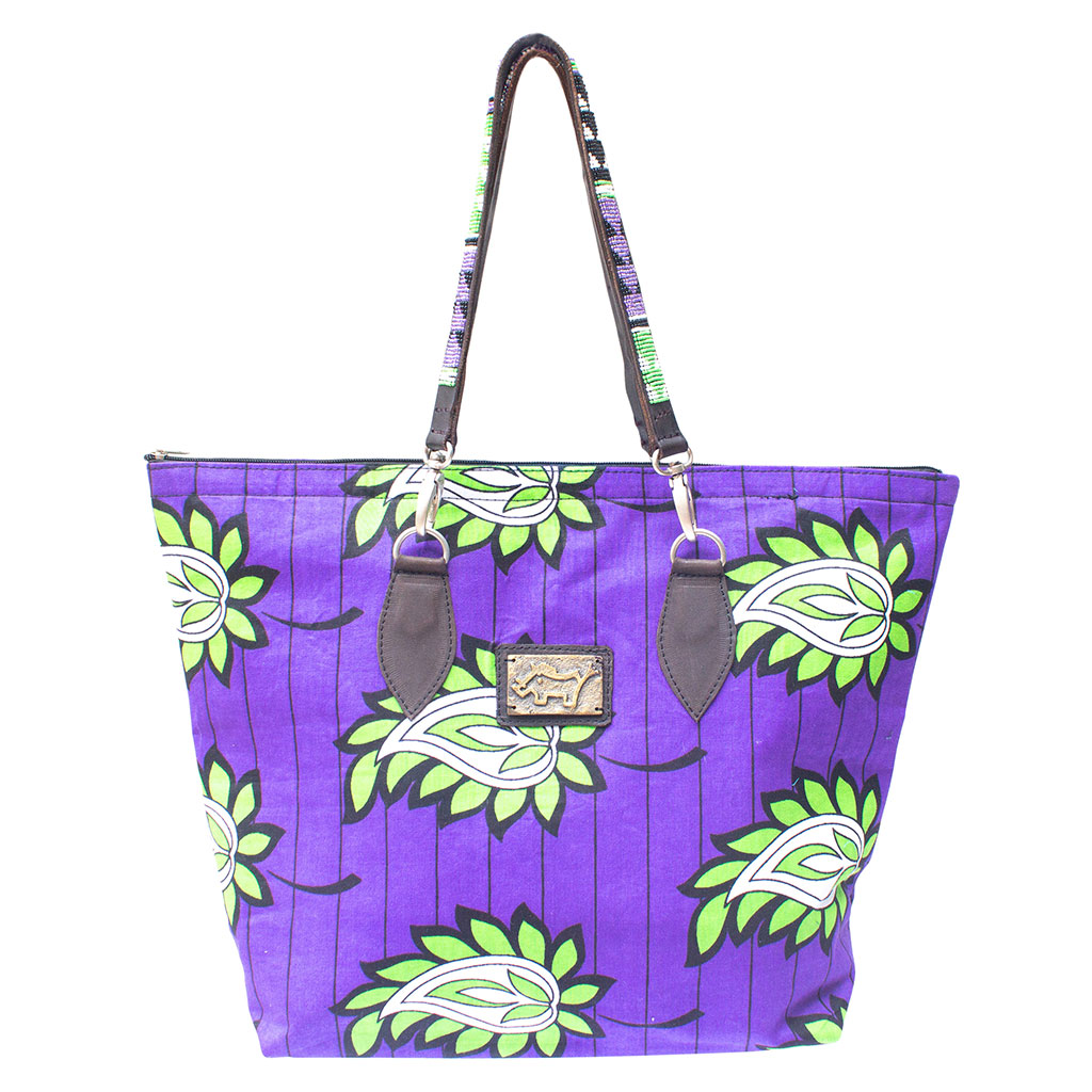 Shopping Bag with Beaded Handles